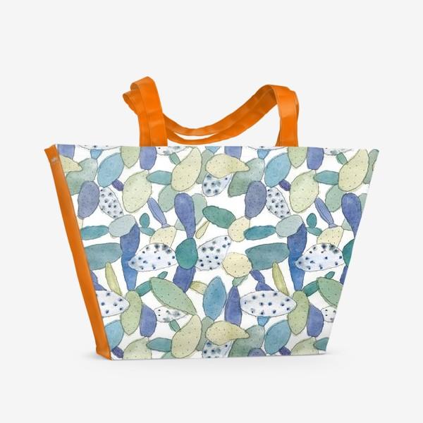 Пляжная сумка «Орнамент «Кактусы»»