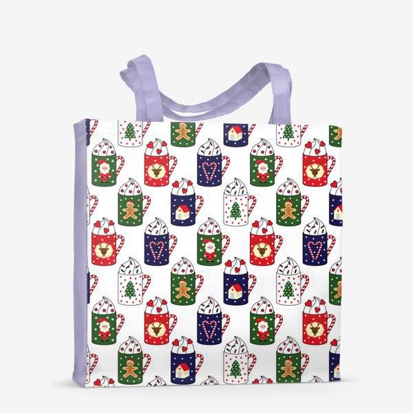 Сумка-шоппер «Рождественские кружки»