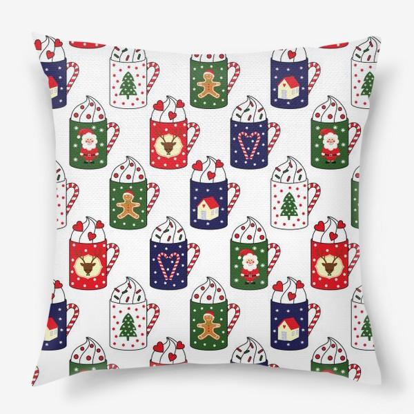 Подушка «Рождественские кружки»
