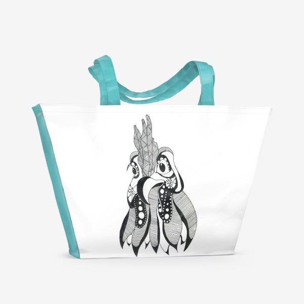 Пляжная сумка «Курочка»