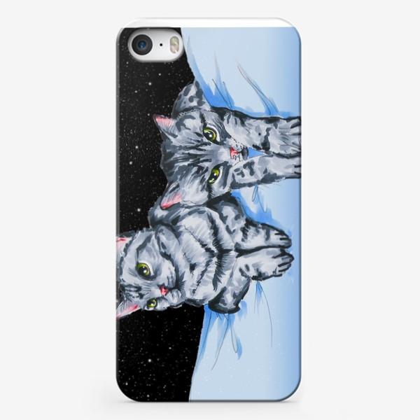 Чехол iPhone «Кошки в космосе»