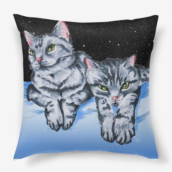 Подушка «Кошки в космосе»