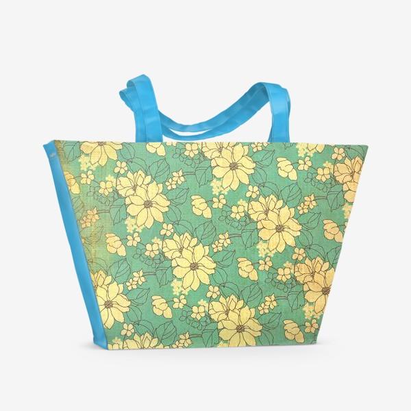 Пляжная сумка «Цветущий сад»