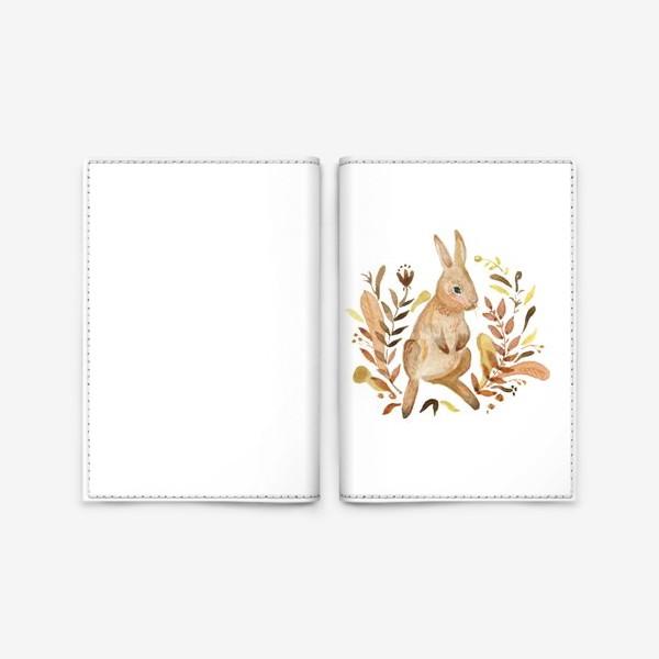 Обложка для паспорта «Кролик осенью»