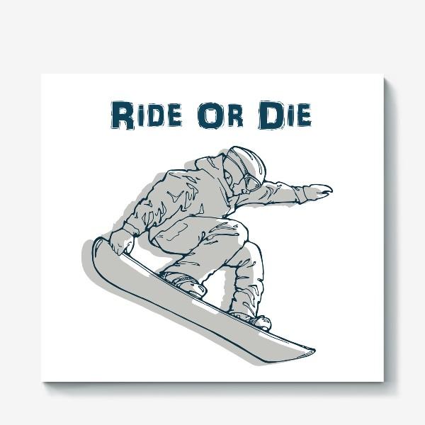 Холст «сноубордист»