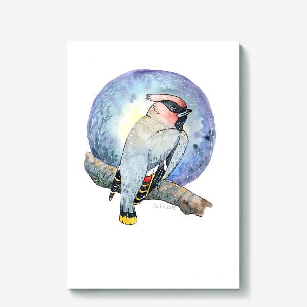 Холст «Птица Свиристель»