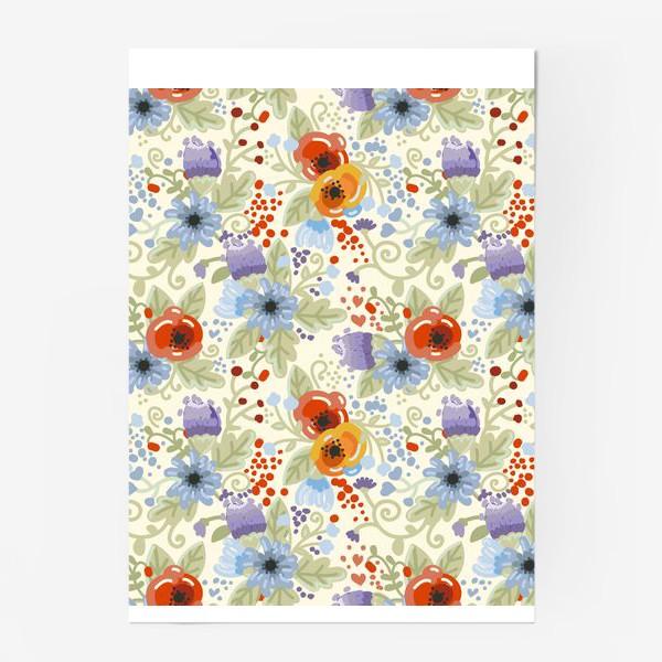 Постер «Яркий цветочный паттерн»