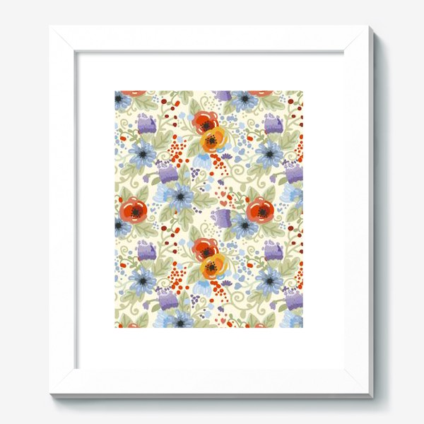Картина «Яркий цветочный паттерн»