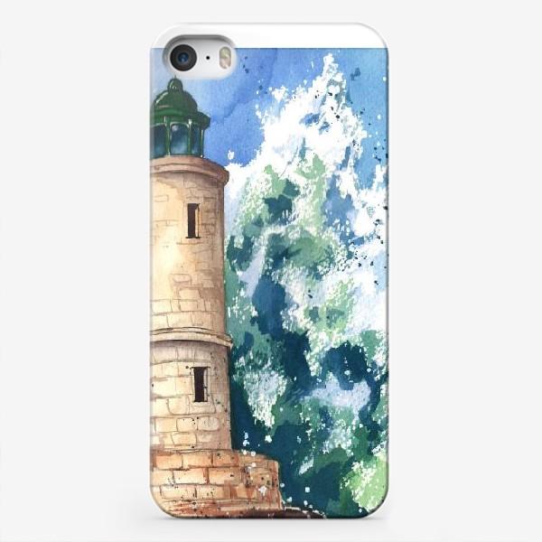 Чехол iPhone «Маяк в шторм»