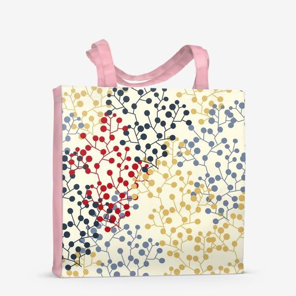 Сумка-шоппер «Паттерн с веточками в ретро цветах»