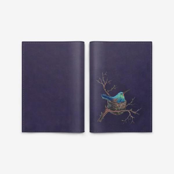 Обложка для паспорта «крошка колибри »
