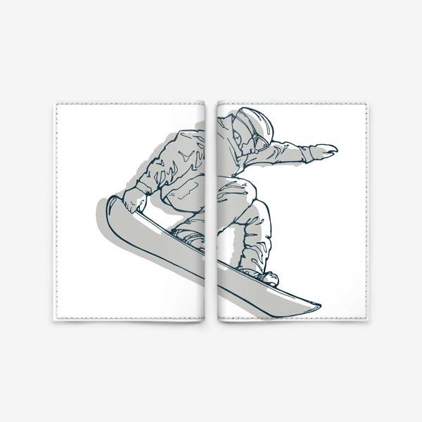 Обложка для паспорта «сноубордист»
