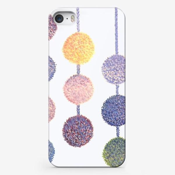 Чехол iPhone «Помпоны»