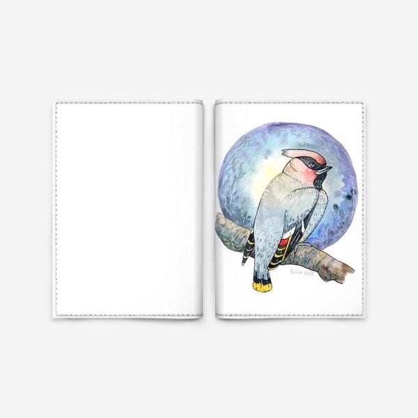 Обложка для паспорта «Птица Свиристель»