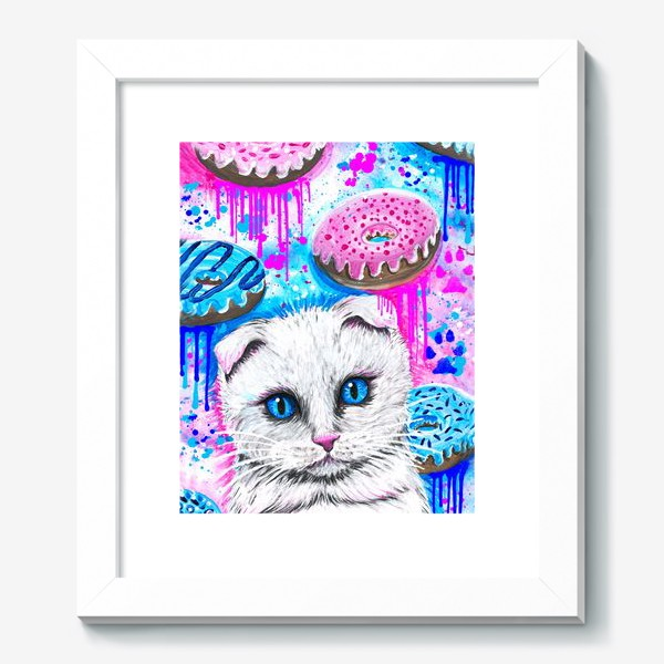 Картина «Кошка с пончиками »