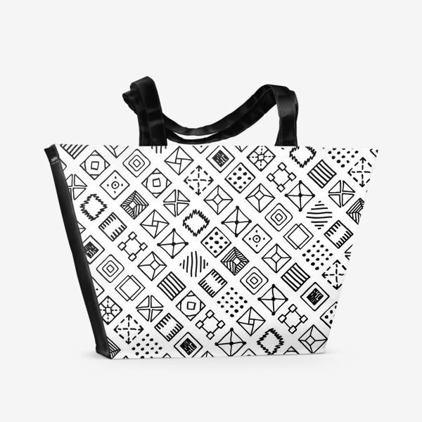 Пляжная сумка «Квадратики»