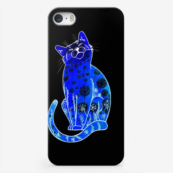 Чехол iPhone «Синий кот»