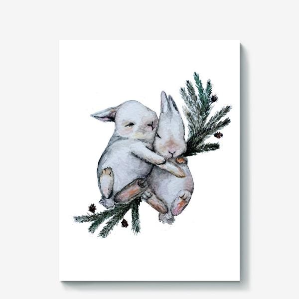 Холст «Зайчата»