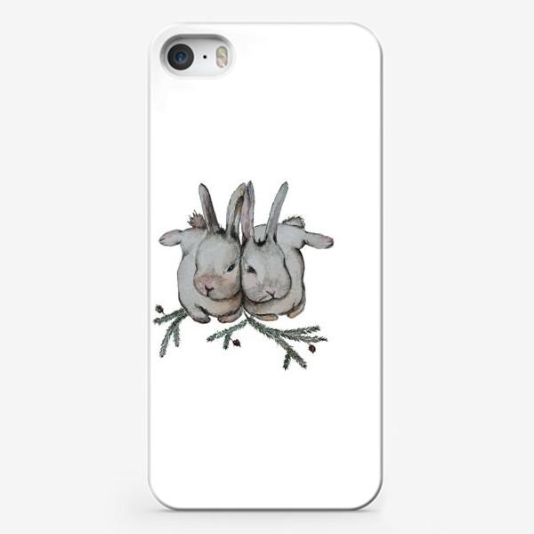 Чехол iPhone «Нежность. Кролики»