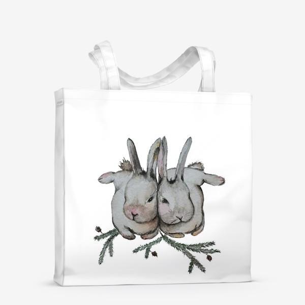 Сумка-шоппер «Нежность. Кролики»