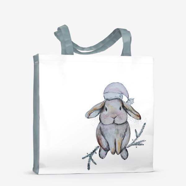 Сумка-шоппер «Рождественский кролик»
