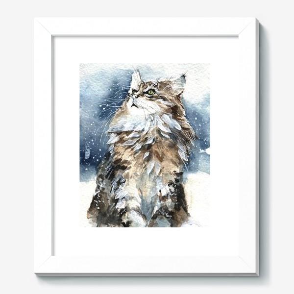 Картина «Снежный кот»