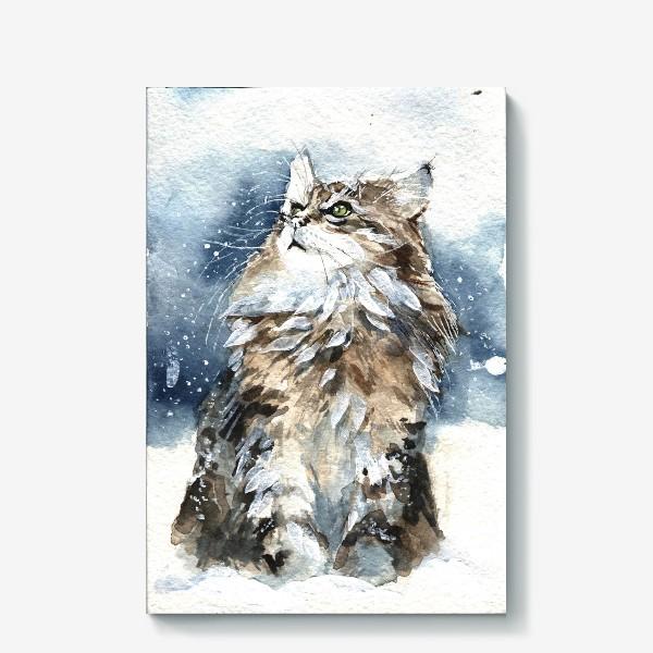 Холст «Снежный кот»