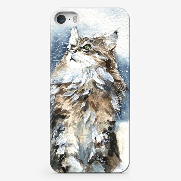 Чехол iPhone «Снежный кот»