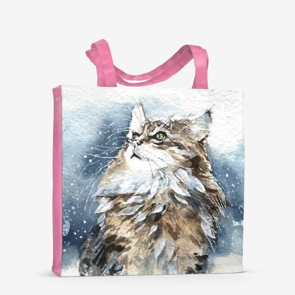 Сумка-шоппер «Снежный кот»