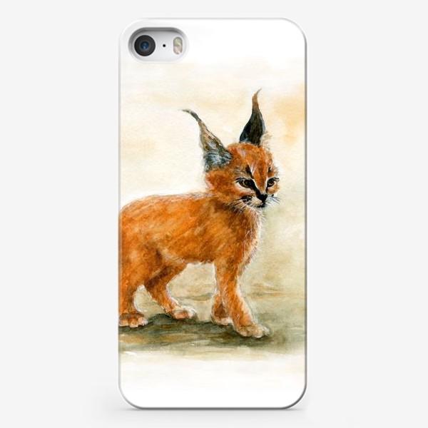 Чехол iPhone «Маленький, серьезный Рысь.»
