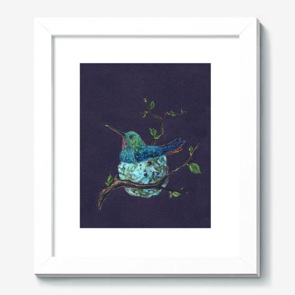 Картина «колибри в гнездышке»