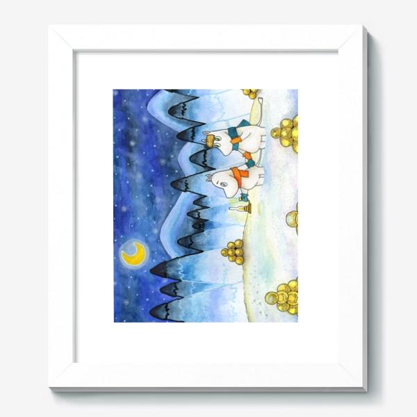 Картина «Муми-Тролли в заснеженном лесу»