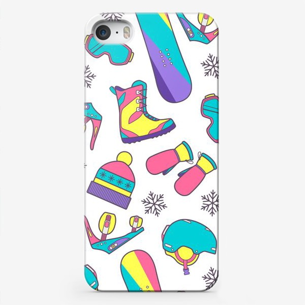 Чехол iPhone «Сноуборд-паттерн»