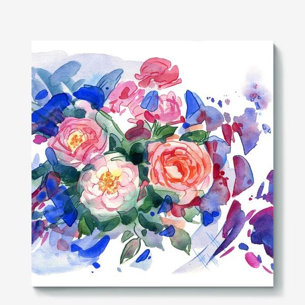 Холст «Цветочный принт»