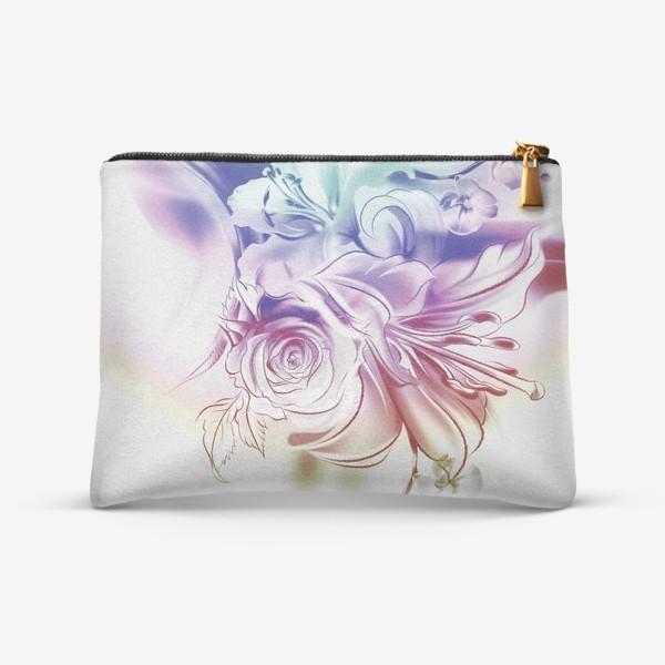 Косметичка «Лилия, роза и орхидея»