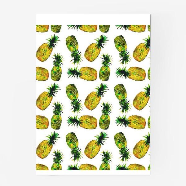 Постер «Зеленые ананасы»