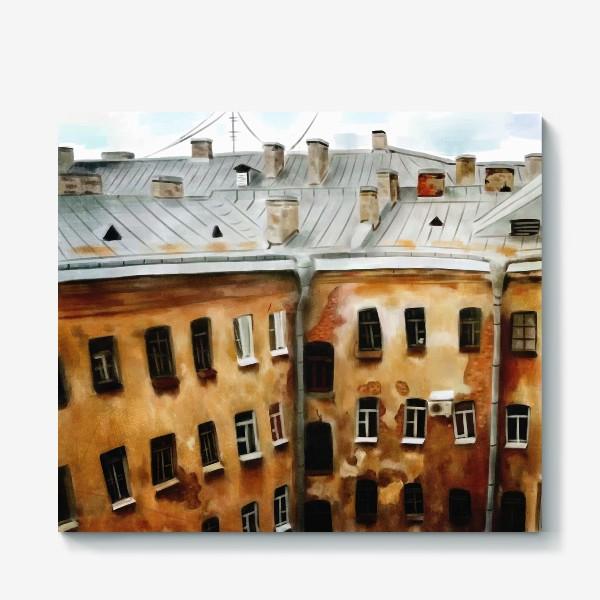 Холст «питерские окна»