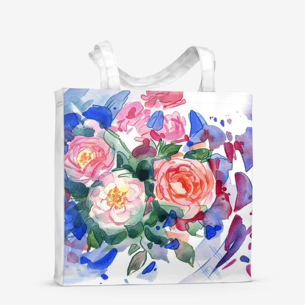 Сумка-шоппер «Цветочный принт»