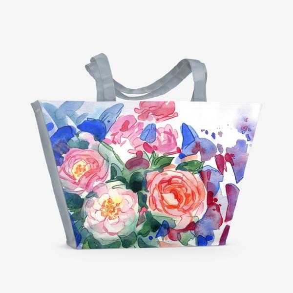 Пляжная сумка «Цветочный принт»