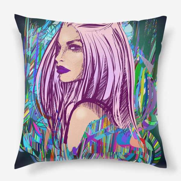 Подушка «Кислотная барышня»