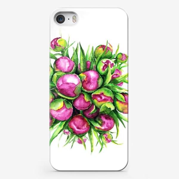 Чехол iPhone «Бутоны пионов»