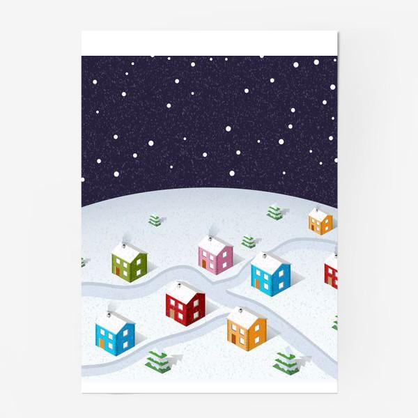 Постер «Зимняя деревня»