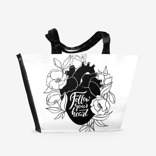 Пляжная сумка «Follow Your Heart»