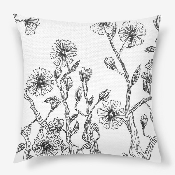 Подушка «Цветы цикория»