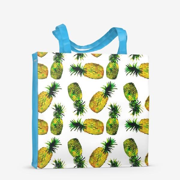 Сумка-шоппер «Зеленые ананасы»