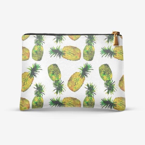 Косметичка «Зеленые ананасы»