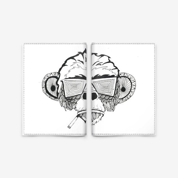 Обложка для паспорта «Monkey»