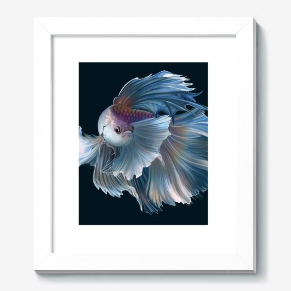 Картина «Голубая рыбка. Вуалехвост»