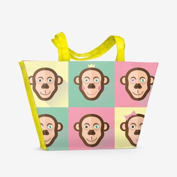 Пляжная сумка «Весёлые обезьяны»