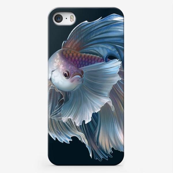 Чехол iPhone «Голубая рыбка. Вуалехвост»